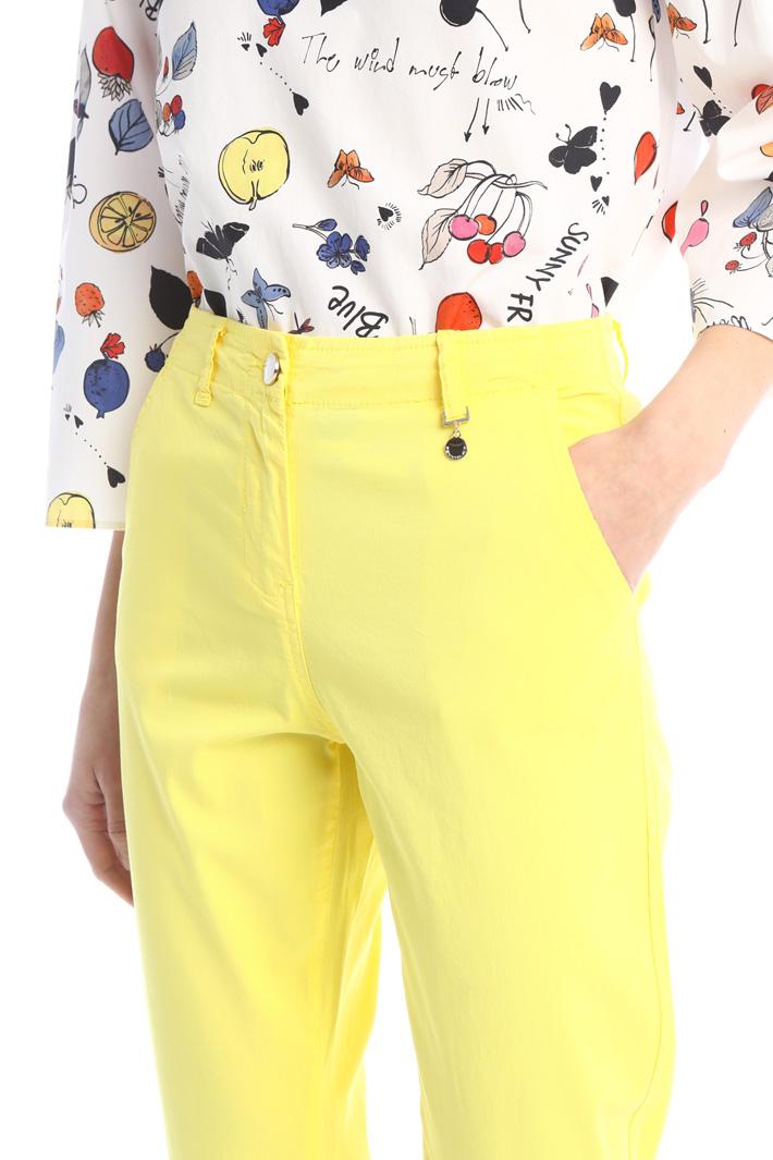 Cotton Capri trousers Intrend