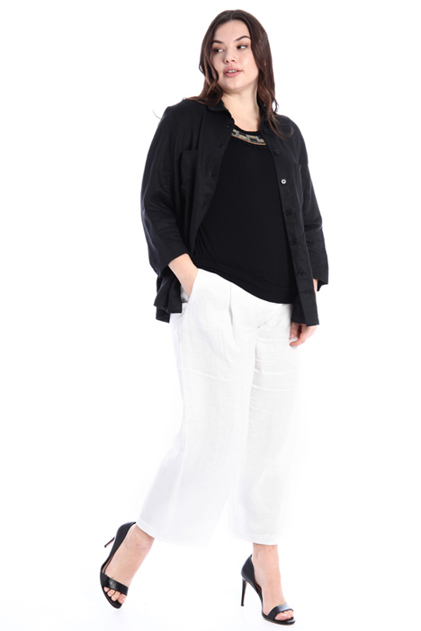 Satin linen trousers Intrend