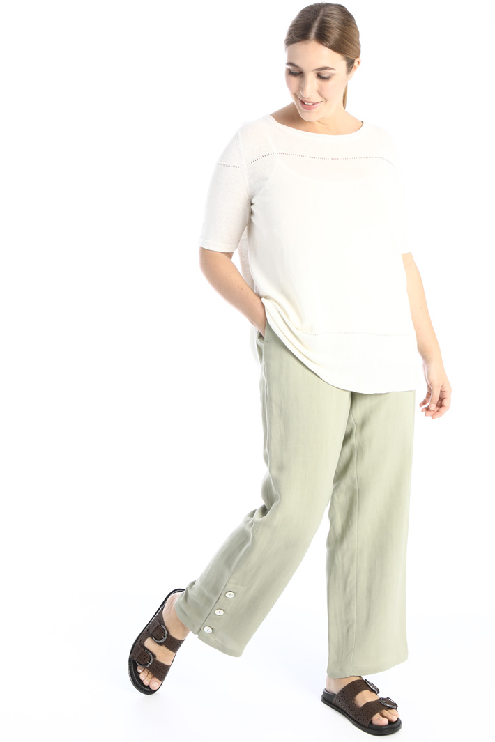 Trousers in woven linen Intrend