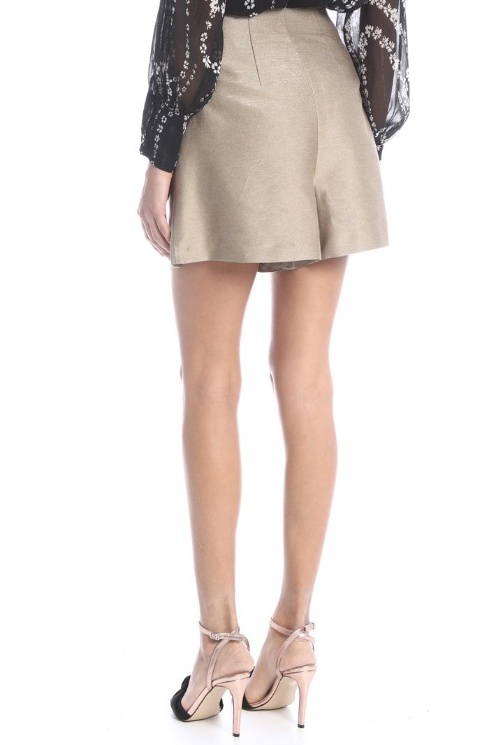 Lurex cotton short skirt Intrend