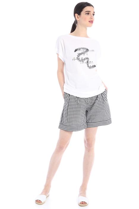Yarn dyed poplin shorts  Intrend