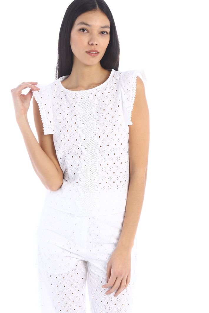 Broderie anglaise top Intrend
