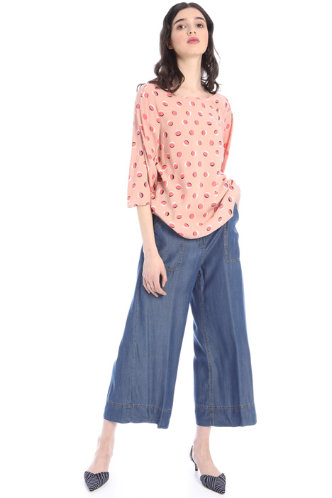 Light denim trousers Intrend