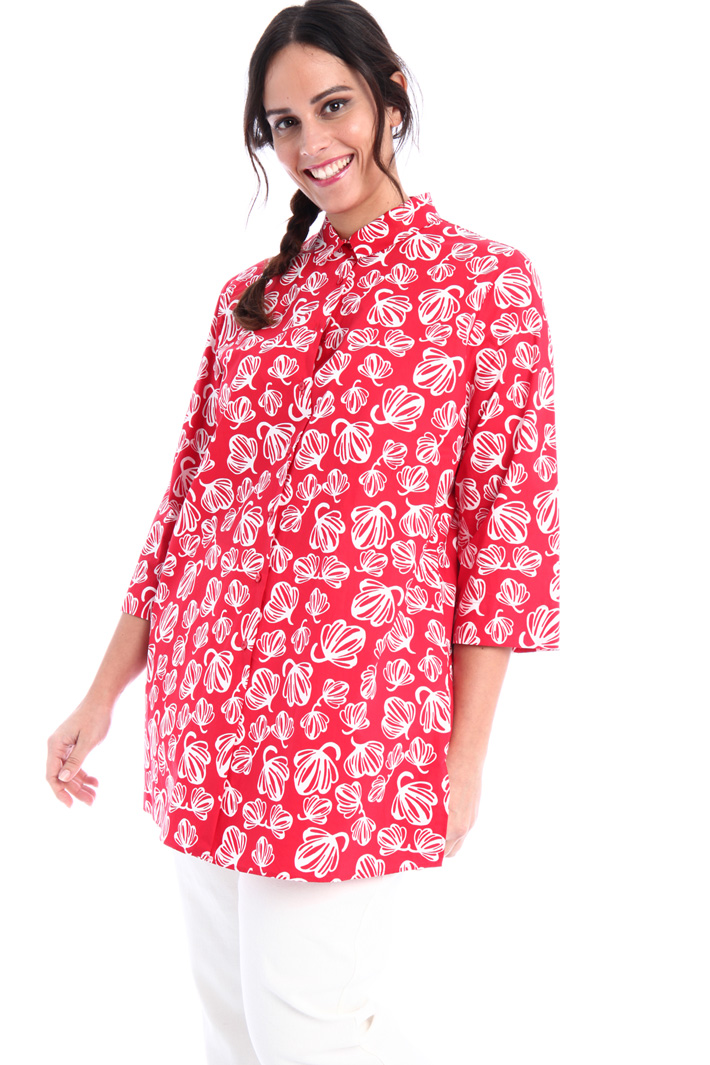 Printed cotton shirt Intrend