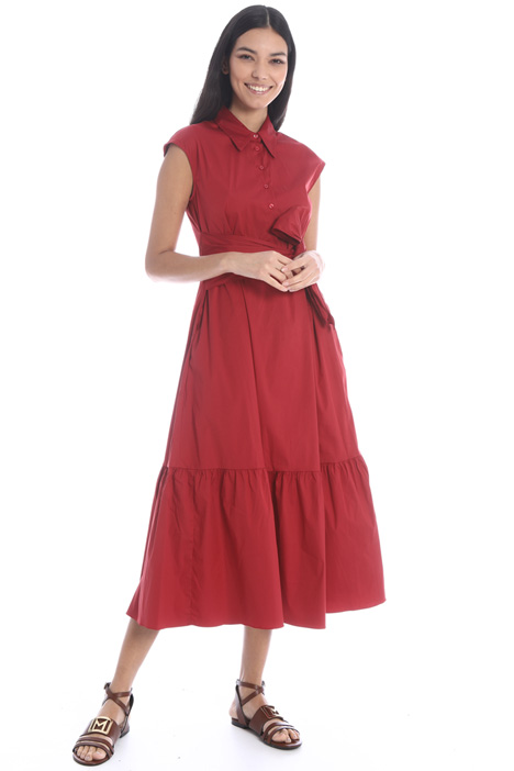 Flared poplin dress Intrend