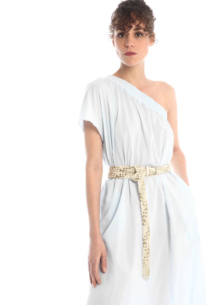 One-shoulder cotton dress Intrend