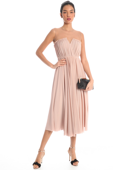 Semi-fitted tulle dress Intrend