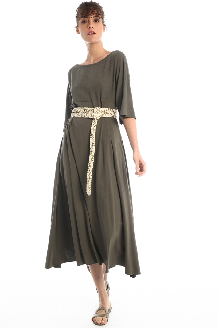 Flared linen and cotton dress Intrend