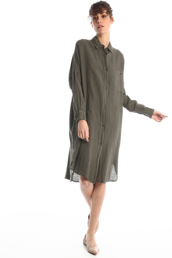 Linen chemisier dress Intrend