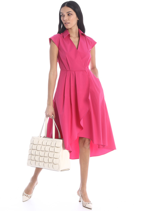 Asymmetrical poplin dress Intrend