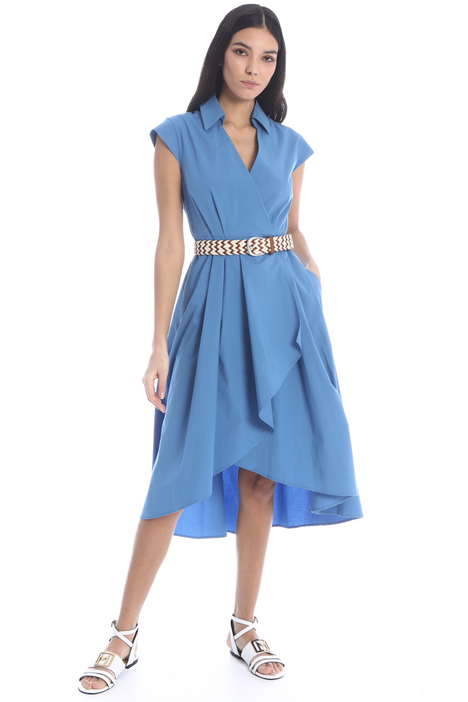 Asymmetrical poplin dress Intrend