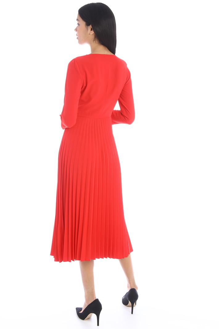 Midi pleated sablé dress Intrend
