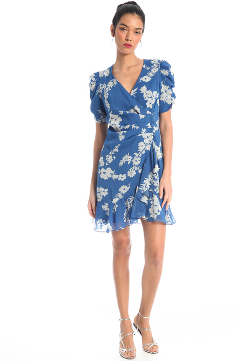 Wrap-up georgette dress Intrend