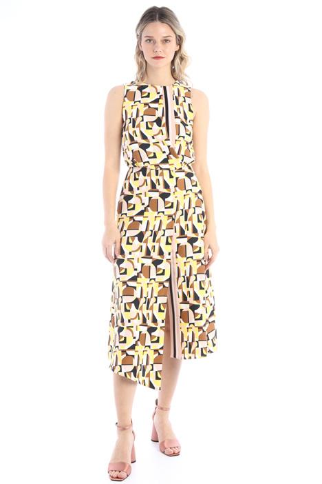 Printed satin dress Intrend