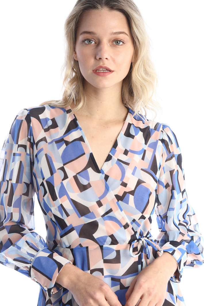 Patterned wrap-up dress Intrend