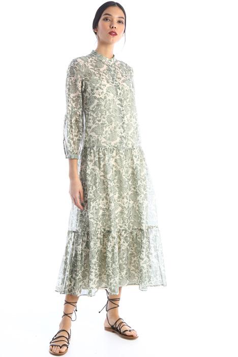 Long silk muslin dress Intrend