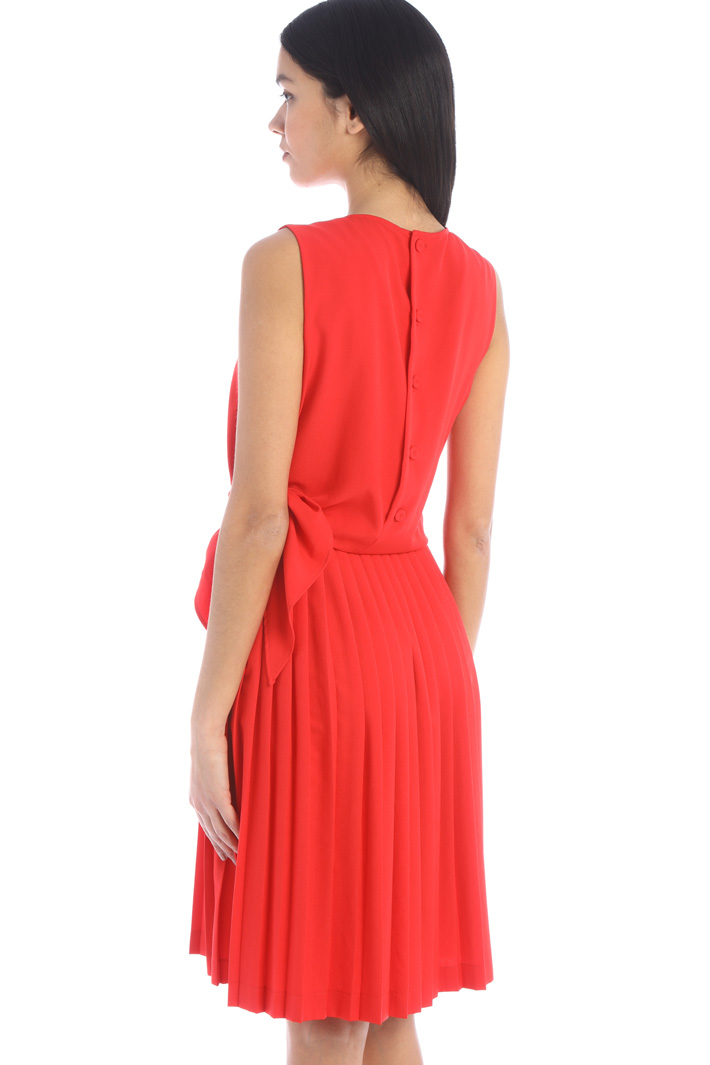 Pleated sablé dress Intrend
