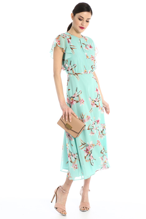 Printed georgette dress Intrend
