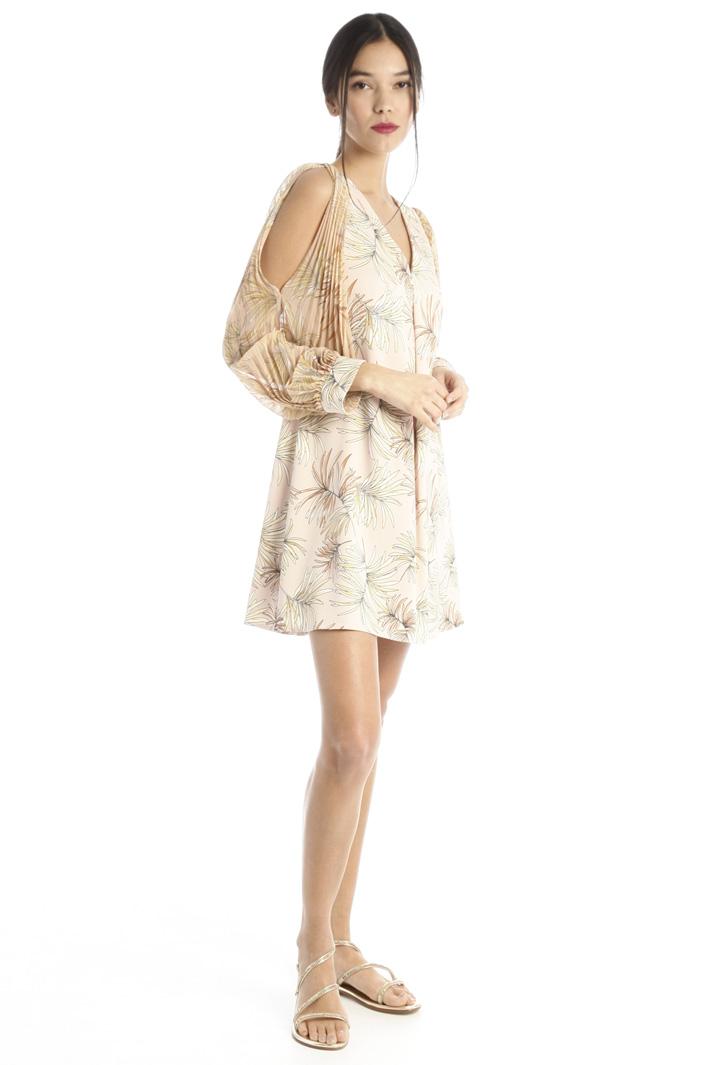 Short flared satin dress Intrend
