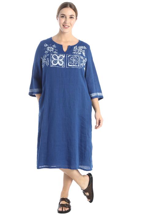 Printed linen dress Intrend