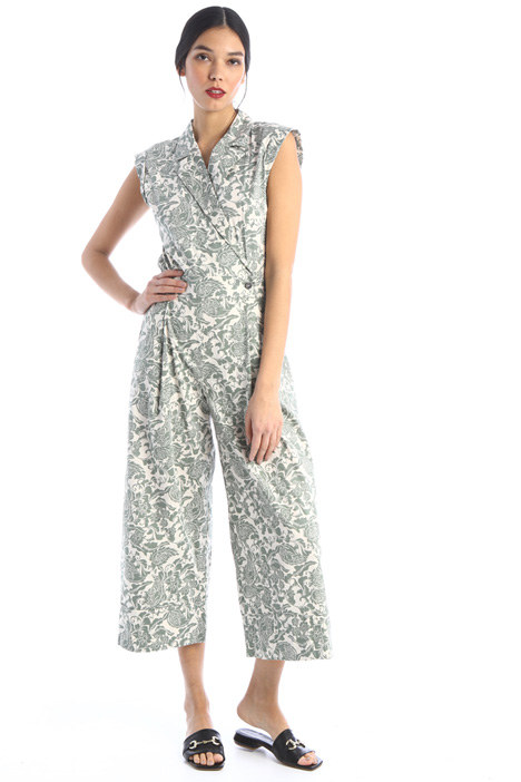 Printed poplin jumpsuit Intrend