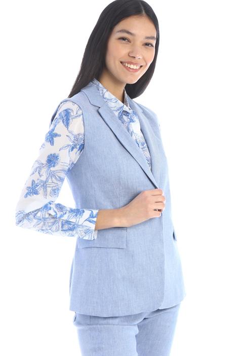 Linen and cotton vest Intrend