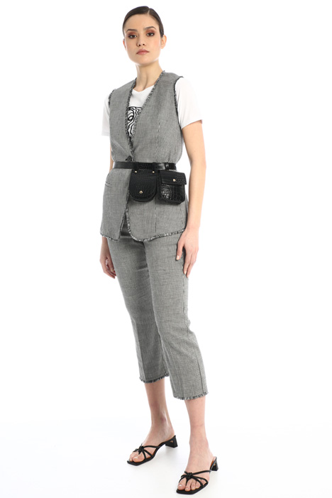 Linen and cotton vest Intrend