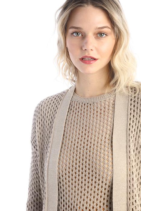 Lurex cotton mesh cardigan Intrend