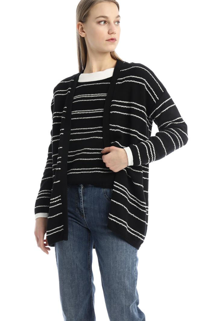 Oversized cotton cardigan Intrend