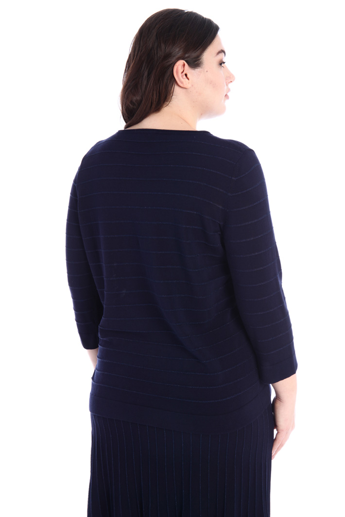 Crepe and cotton sweater Intrend