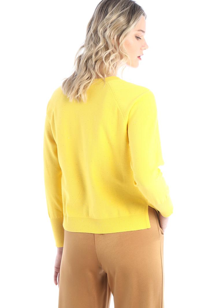 Boxy fit rhinestone sweater Intrend