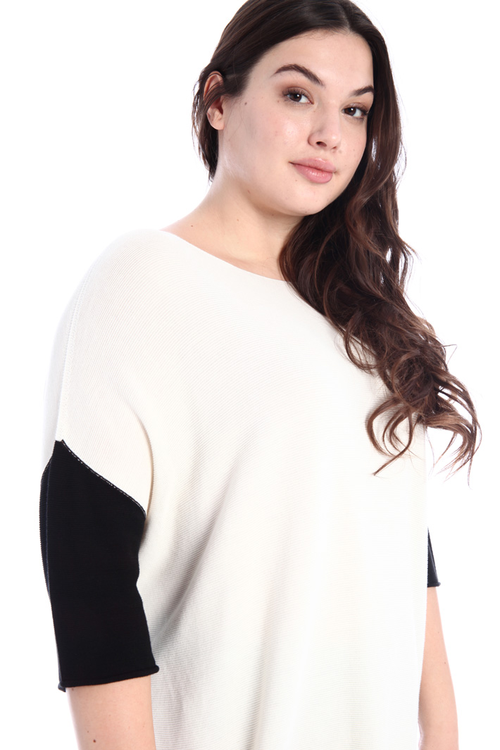 Cotton crepe sweater Intrend