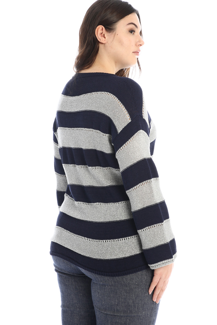 Yarn dyed cotton sweater Intrend