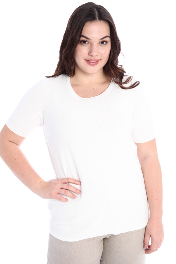 Short sleeve cotton sweater Intrend