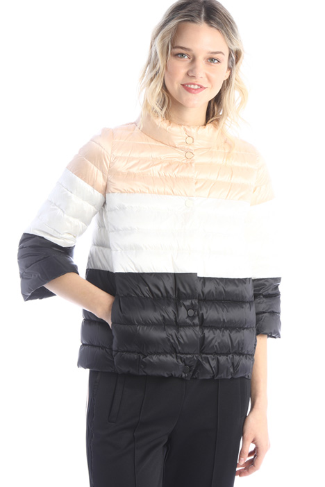 Colour-block puffer jacket Intrend