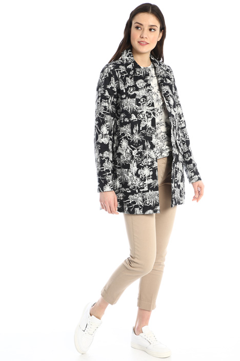 Patterned padded jacket Intrend