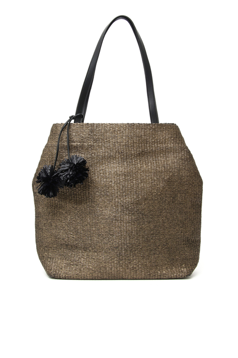 Straw shopper bag Intrend