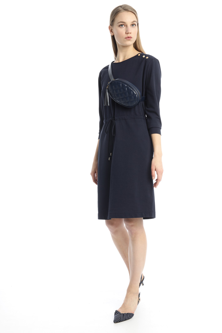 Buttoned drawstring dress Intrend