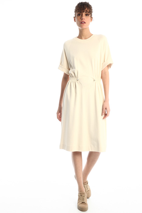 Drawstring jersey dress Intrend