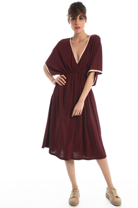 Draped linen dress Intrend