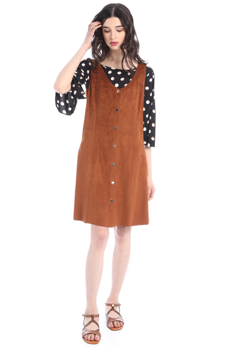 Suede-effect jersey dress Intrend