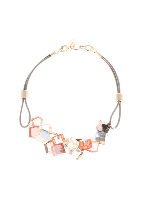 Choker necklace with cubes Intrend