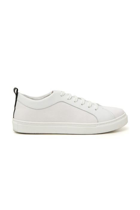 Cotton and leather sneakers Intrend