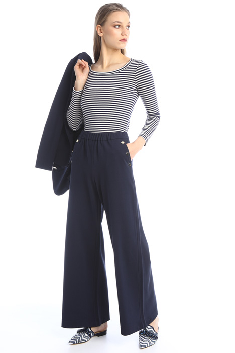 Wide-leg jersey trousers Intrend