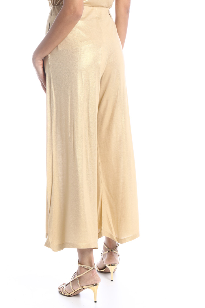 Laminated palazzo trousers Intrend