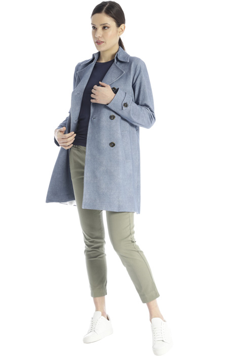 Yarn-dyed trench coat Intrend
