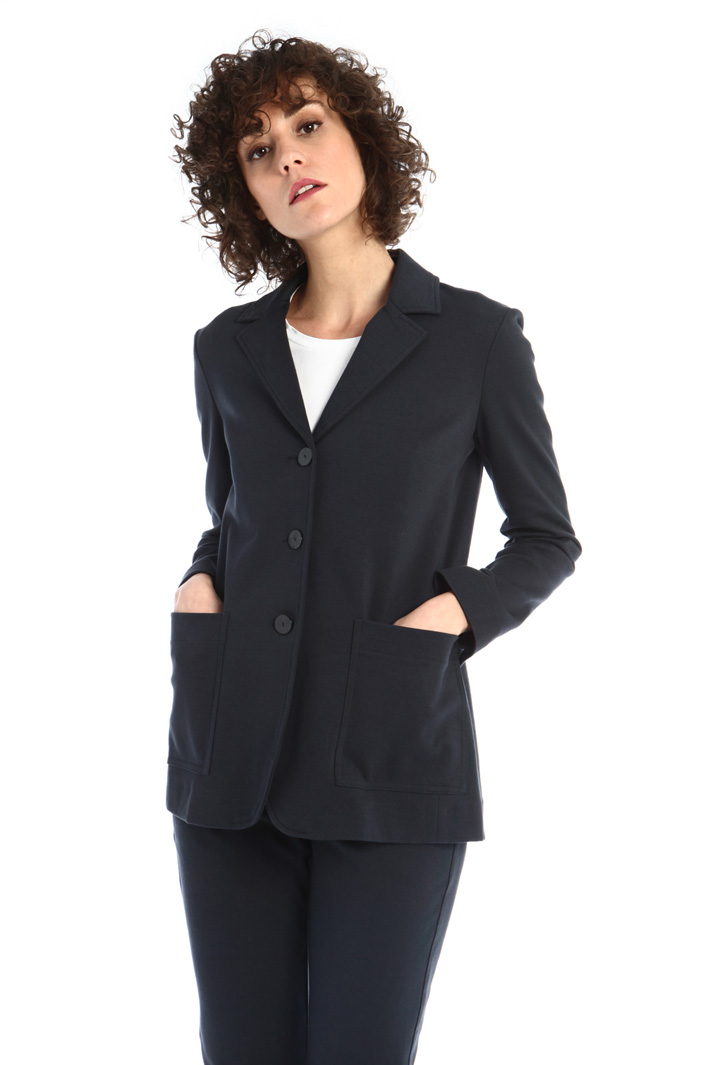 Single-breasted jersey jacket Intrend