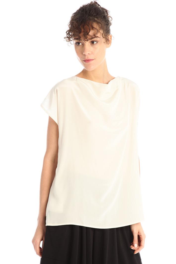 Draped silk tunic Intrend