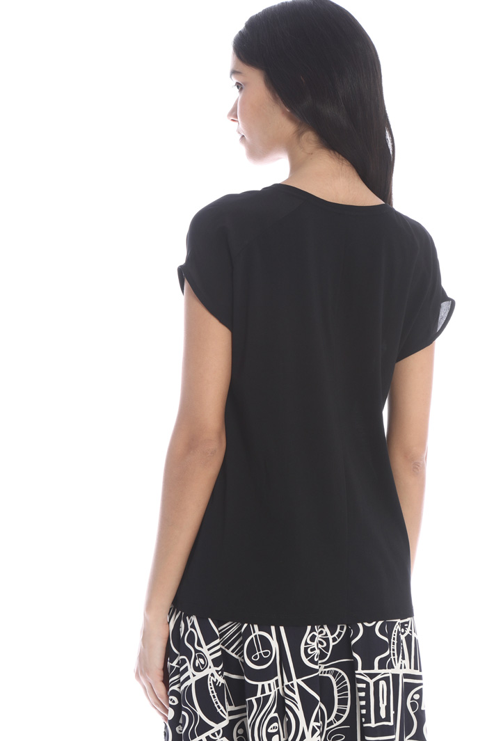 Silk and jersey crepe top Intrend