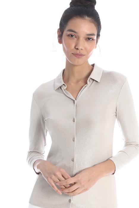 Laminated jersey shirt Intrend